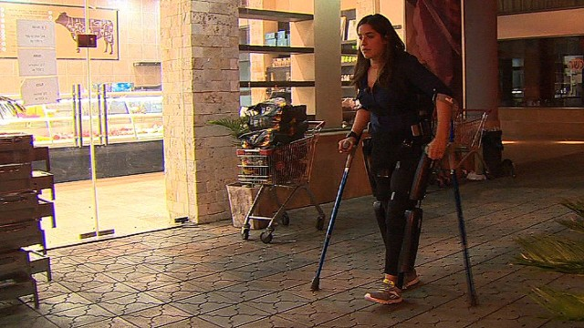 New technology helps paralyzed woman walk