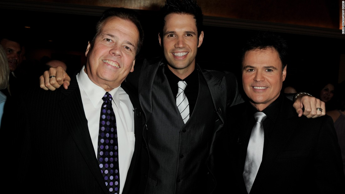 Singer Alan Osmond, left, and his son David Osmond both live with multiple sclerosis.
