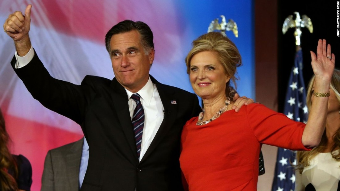 Ann Romney, wife of former presidential candidate Mitt Romney, was diagnosed with MS in 1998.