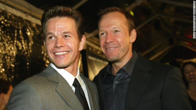 "Mark and Donnie Wahlberg attend the 2002 movie premiere of ""The Truth About Charlie."""