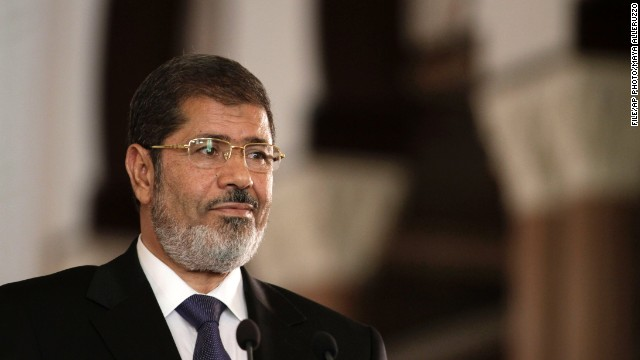 Mohamed Morsy, seen here in 2012, says he's still Egypt's legitimate leader