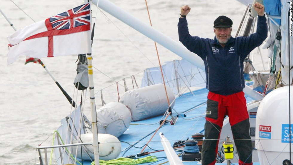 In 2007, nearly four decades after his last circumnavigation and aged 68, Knox-Johnston once again sailed solo around the world in the VELUX 5 Oceans Race, being the oldest to ever enter the event.