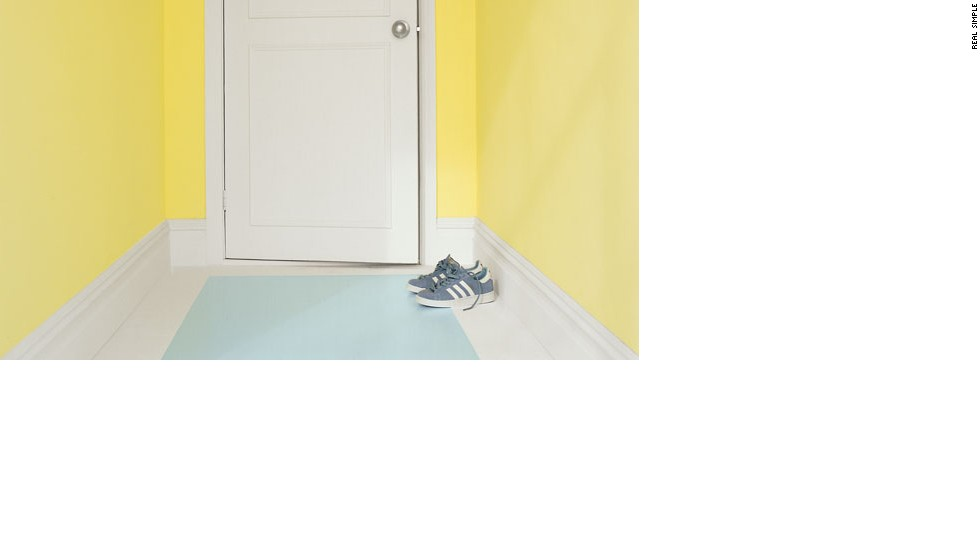 Easy DIY upgrade: Instant hallway makeover. Transform a high-traffic area, like an entranceway, by painting a runner. It's a creative, low-cost alternative to carpeting or refinishing your beat-up wood (or painted wood) floor.