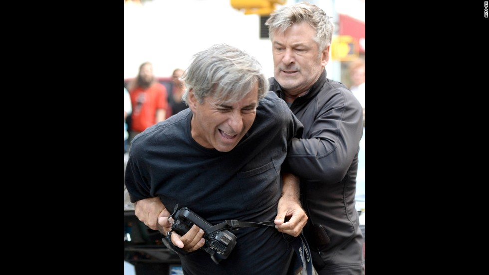 "In August 2013, both Baldwin and a photographer called the police to report an incident in New York. Apparently a standoff ensued after the photographer got too close for Baldwin's liking while he was with Hilaria. Baldwin has had several disputes<a href=""http://www.cnn.com/video/data/2.0/video/showbiz/2013/08/28/newday-dnt-turner-alec-baldwin-paparazzi.cnn.html""> with paparazzi. </a>"