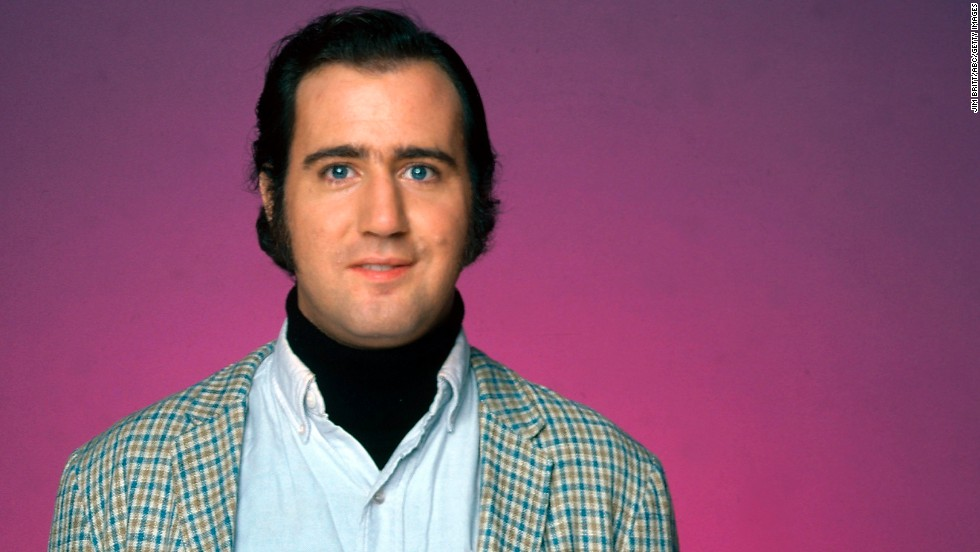 "Andy Kaufman, the comedian who wasn't a comedian, as Latka Gravas on ABC's television show, ""Taxi,"" one of his best-known roles, in 1978. Kaufman's death in 1984 has fueled many conspiracy theories to the effect that the actor faked it. Take a look back at his life cut short."