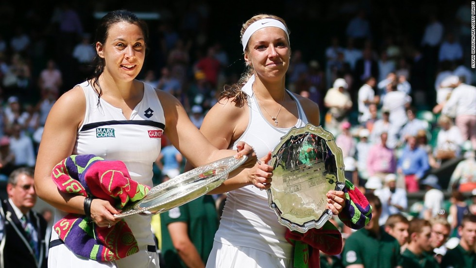In the 2013 final -- and after taking a nap an hour before it began -- Bartoli beat big-serving German Sabine Lisicki 6-1 6-4.