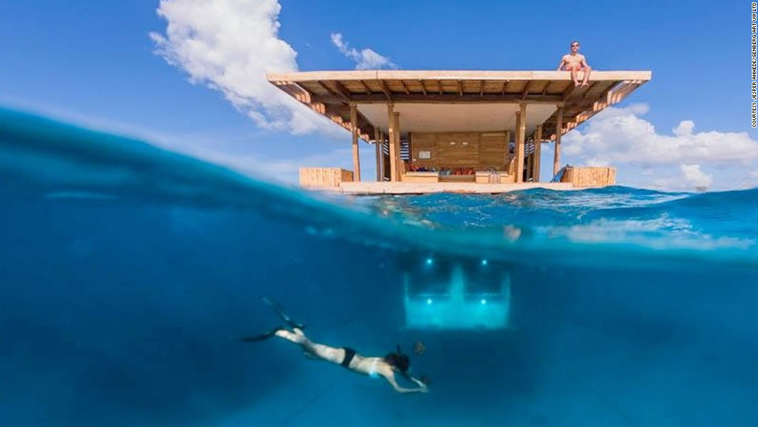 The Worlds Most Spectacular Floating Hotels CNN Travel - These amazing floating villas have underwater bedrooms