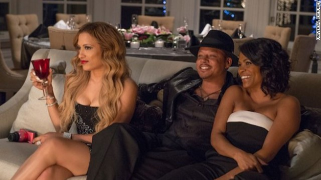 "Melissa De Sousa, Terrence Howard and Regina Hall star in ""The Best Man Holiday."""