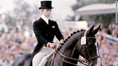 Britain's Princess Anne competing in the 1970s.