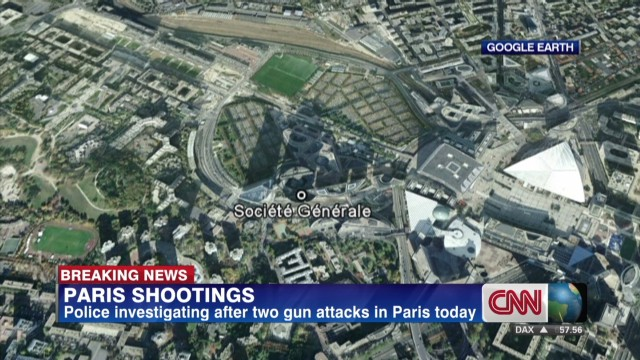 Two gun attacks in Paris today