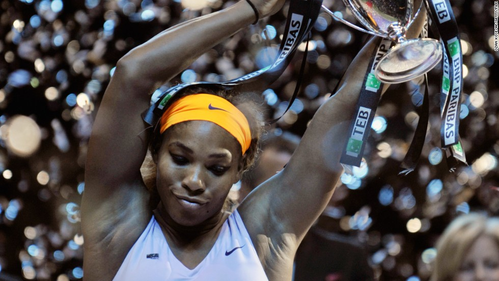 The American enjoyed her best year in 2013, capped with a successful defense of her season-ending WTA Championships crown. She won 11 titles, including the French and U.S. Open trophies, and finished the year with 78 wins and just four defeats.
