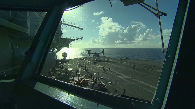 US aircraft carrier boosts relief effort