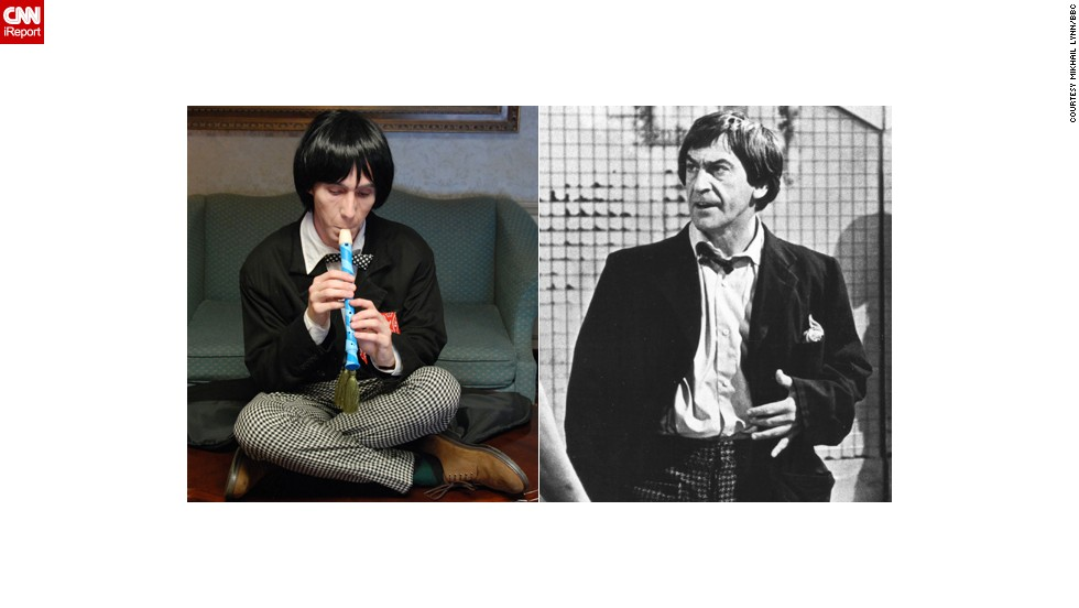 "<a href=""http://ireport.cnn.com/docs/DOC-1061333"">Mikhail Lynn</a> cosplays as multiple doctors, including the recorder-playing Second Doctor, who was portrayed by Patrick Troughton. He holds a special place in the St. Louis resident's heart: ""Confident in his abilities and downright cocky at times, he never took himself too seriously. When faced with danger, the mercurial Doctor would play up the image of a hapless bumbler to throw off his enemies only to reveal a darker, sometimes ruthless side that was both a cunning strategist and fiercely loyal to his companions."""