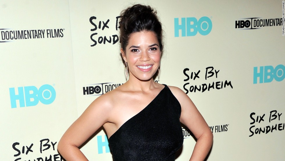 "America Ferrera  works the red carpet at the ""Six by Sondheim"" premiere  on November 18 in New York City."