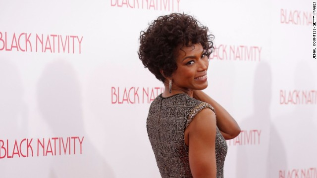 "Angela Bassett attends the ""Black Nativity"" premiere at The Apollo Theater on November 18, 2013 in New York City."