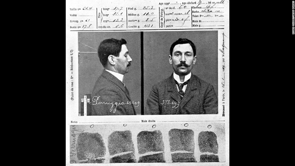 Vincenzo Peruggia, the Italian handyman who stole the Mona Lisa, had trouble with the law before -- once for attempting to rob a prostitute and once for carrying a gun during a fistfight.