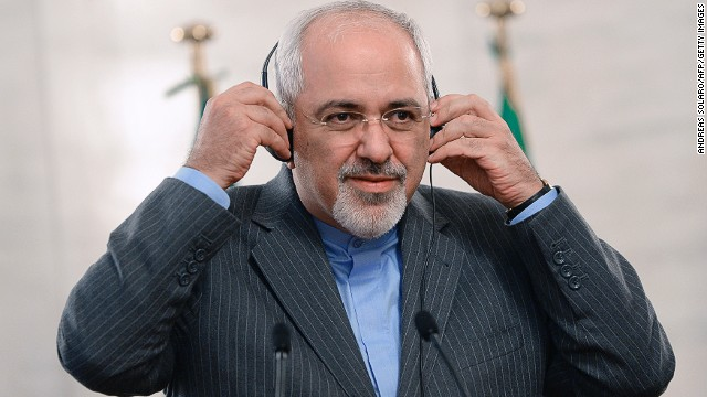 Iranian Foreign Affairs Minister Mohammad Javad Zarif at a press conference on November 19, 2013 at the Foreign Ministry in Rome.