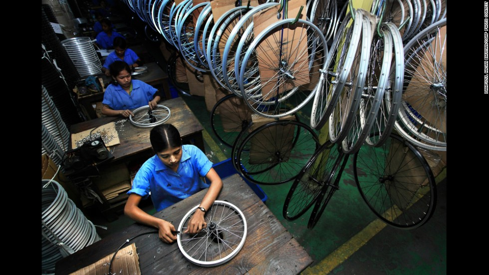 Women's involvement in cycle making and other industries is increasingly important in helping the Bangladeshi economy.
