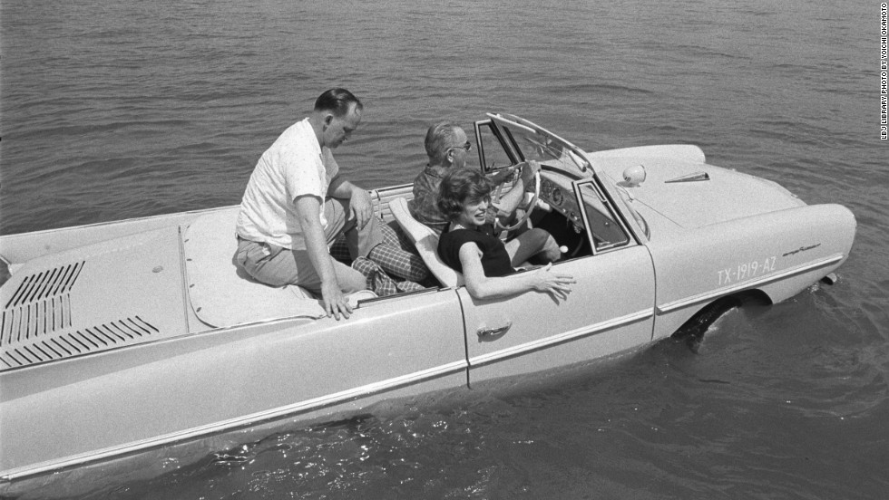 "Lyndon B. Johnson kept a collection of vehicles at his ranch in Texas. Among them was the <a href=""http://www.nps.gov/lyjo/planyourvisit/presidentialvehicles.htm"" target=""_blank"">Amphicar</a>, a civilian amphibious passenger car produced in the 1960s."