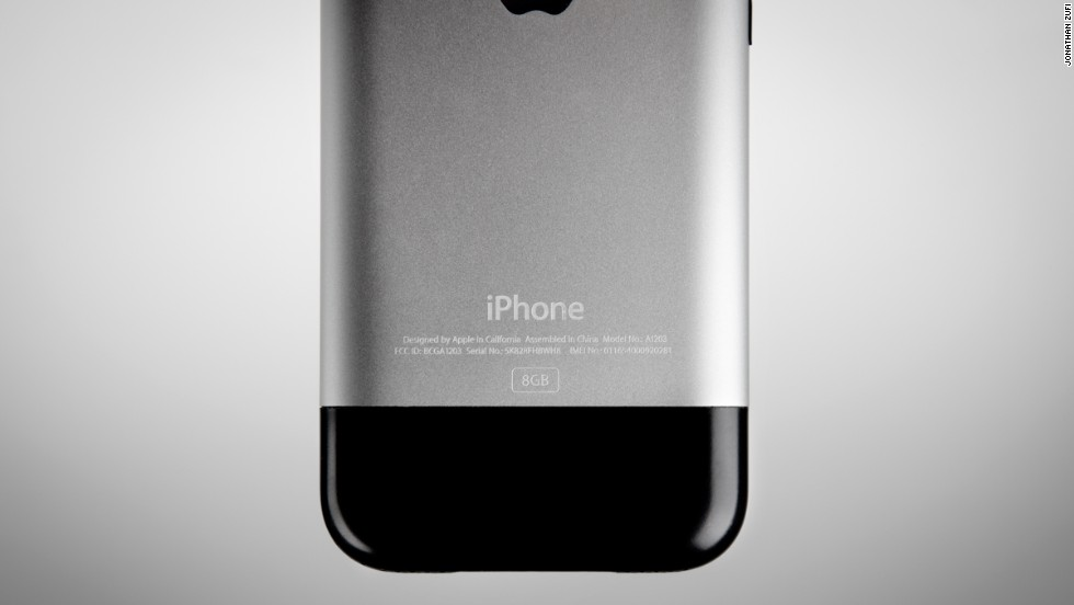 It says something about the fast-moving world of consumer technology that this image of the first-generation iPhone, released in 2007, already looks like a loving tribute to a gadget of the past.