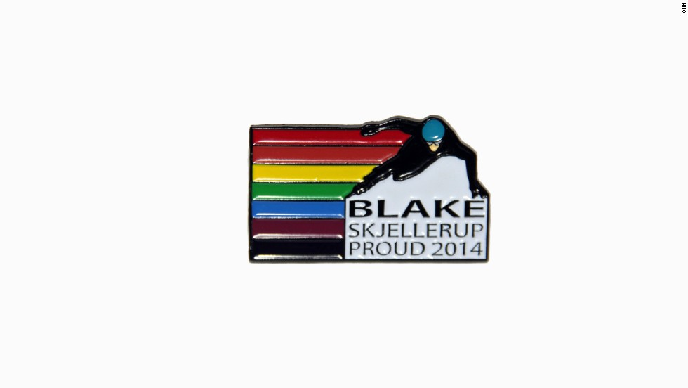 Skjellerup has produced a badge that he intends to wear at Sochi 2014, with the rainbow a symbol of the LBGT community.