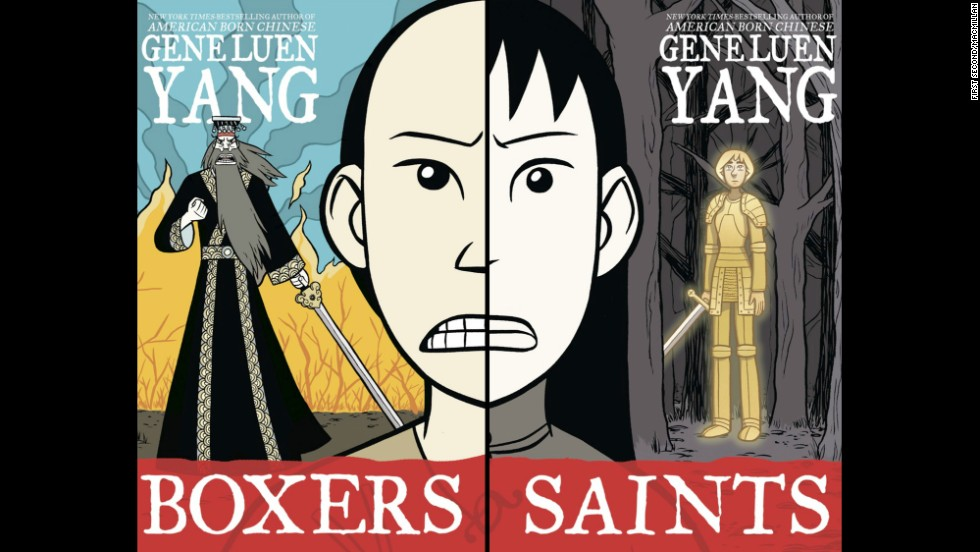 "<strong>Young people's literature: </strong>Gene Luen Yang, ""<a href=""http://www.nationalbook.org/nba2013_ypl_luenyang.html#.Uo2CS42vWL0"" target=""_blank"">Boxers & Saints</a>"""