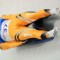 indian luge in action