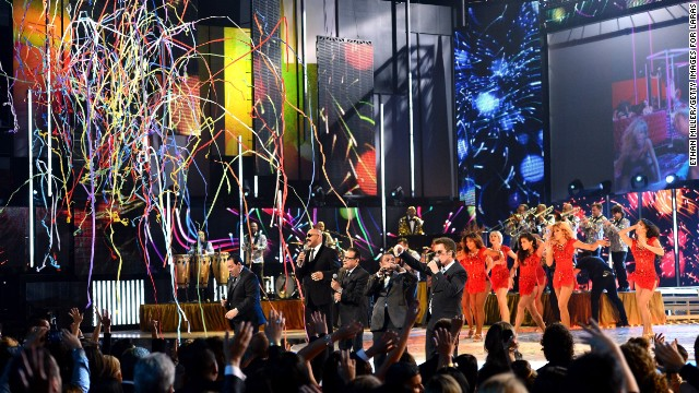 LAS VEGAS, NV - NOVEMBER 21: Salsa Giants perform onstage during the 14th Annual Latin GRAMMY Awards held at the Mandalay Bay Events Center on November 21, 2013 in Las Vegas, Nevada.