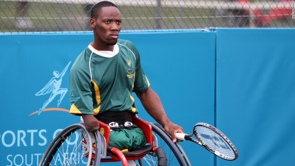 Sithole lost both of his legs and most of his right arm when he fell under a train at the age of 12. He began playing wheelchair tennis only seven years ago.