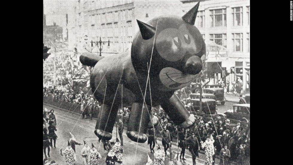 "Felix the Cat was one of the first giant balloons to appear in the <a href=""http://social.macys.com/parade/?cm_mmc=VanityUrl-_-parade-_-n-_-n#/home"" target=""_blank"">Macy's Thanksgiving Day Parade.</a> The parade in New York City, as much a holiday tradition as turkey, football and dinner-table debates, started in 1924. Balloons first appeared in 1927, replacing live animals from the Central Park Zoo."
