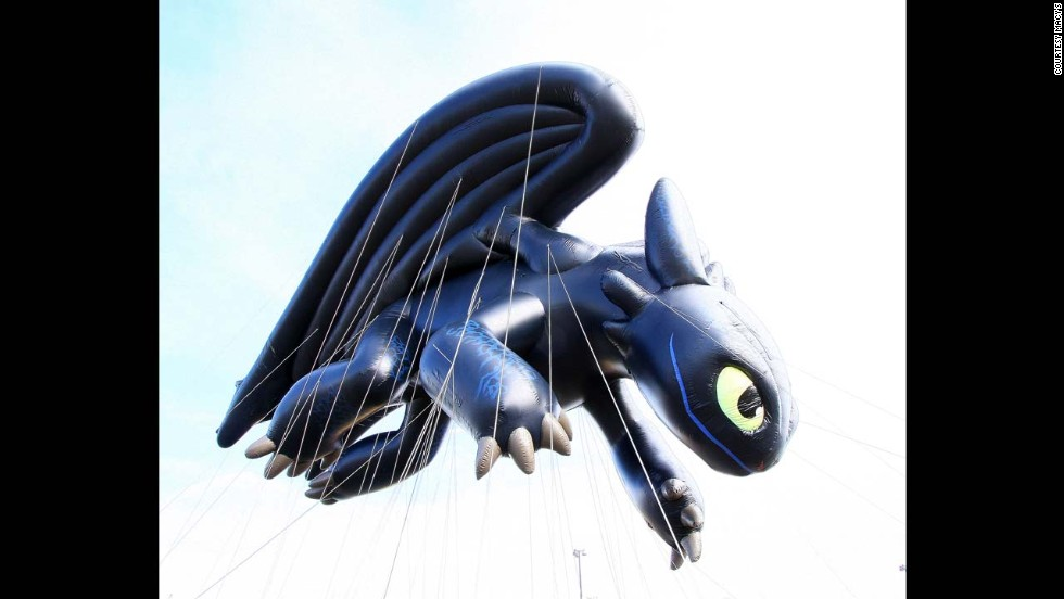 "<strong>Toothless (2013): </strong>Toothless, from the movie ""How to Train Your Dragon,"" made its debut in the 2013 parade. Toothless was four stories tall, as long as 12 bicycles and as wide as seven taxi cabs."