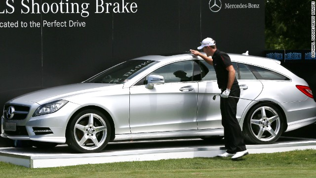 Stuart Manley thought he won this car after hitting a hole in one but he was a round too early.