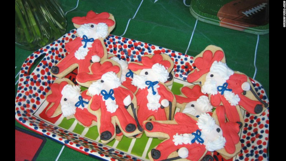 Even the cookies get in on the decorating action in the Grove. These are decorated as the Rebel mascot.