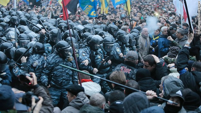 Demonstrations in Ukraine over EU deal