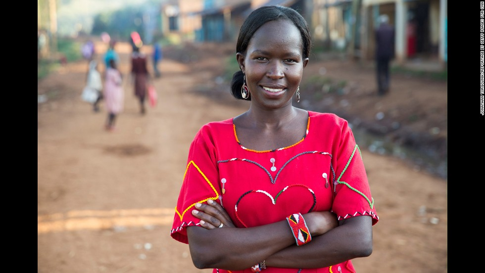 "It took Ntaiya years to drum up support for her project, but eventually she persuaded the village elders to donate land for the school. ""It's still quite challenging to push for change. Men are in charge of everything,"" she said. ""But nothing good comes on a silver plate. You have to fight hard."""