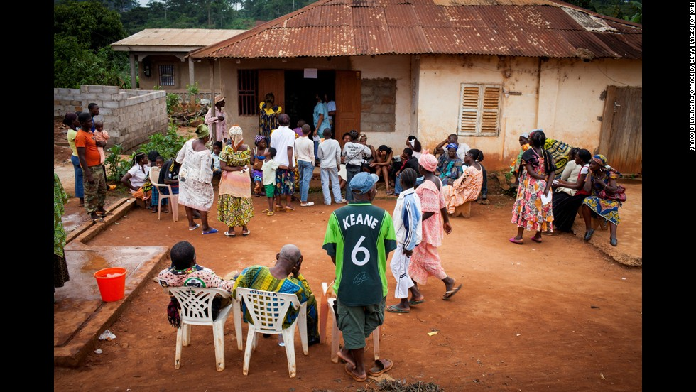 People walk for miles to see Bwelle and his team. Two out of five people in Cameroon live below the poverty line, and nearly three-quarters of the country's health-care spending is private.