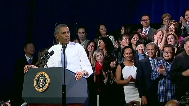 Obama responds to immigration heckler
