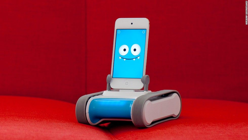 "<strong>Romo smartphone robot. </strong>Back in the '90s, there was a big fad for Tamagotchis, little LCD ""pets"" that required owners to hit buttons to provide care. The latest twist on digital friends is the <a href=""http://romotive.com/meet-romo"" target=""_blank"">Romo robot</a>. Simply take an iPhone and put it in the slot of Romo's moving base, and it comes alive. Over time Romo adjusts to its owner's behavior and can even communicate long-distance. The product has won a number of awards and accolades -- which should make it smile. ($149.99)<br />"