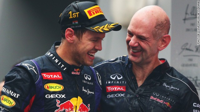 Red Bull's double act of racer Sebastian Vettel and designer Adrian Newey have won the team four world titles.