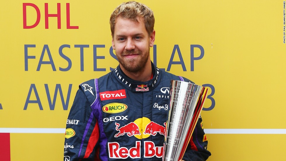 Vettel's speed in 2013 saw him pick up the DHL Fastest Lap Award. The Red Bull racer set the fastest lap during the races seven times during the season -- and for the German every record counts.