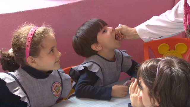 In Syria, mass polio vacciation campaign