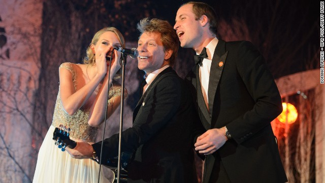 Prince William, Taylor Swift, Bon Jovi sing