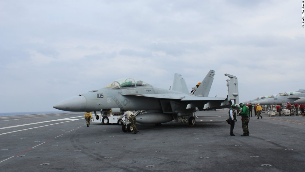 Many of the carrier's aircraft are there solely to protect the strike fleet.