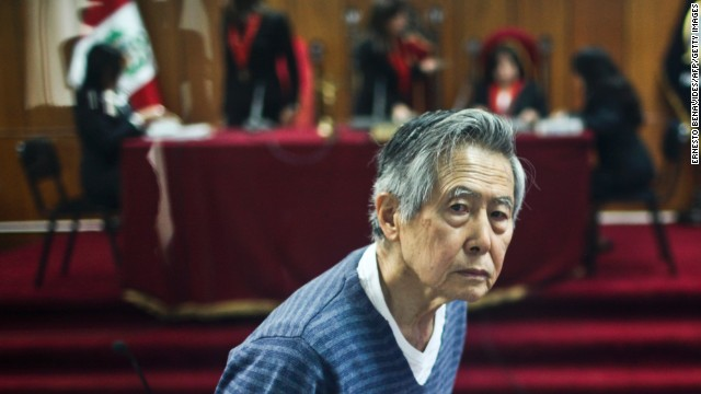 Peru's former president, Alberto Fujimori, appeared in court in late 2013 on charges of funneling public funds to papers that attacked his critics. This weekend, prosecutors found he committed no crimes against humanity in a 1990's sterilization program.