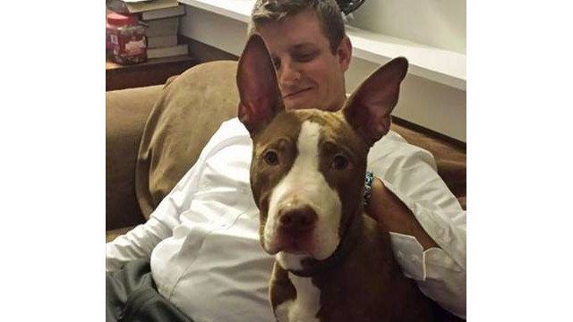 Spc. Jacob Montgomery was reunited his puppy Dexter after a tornado in Washington, Illinois. Dexter was missing nine days.