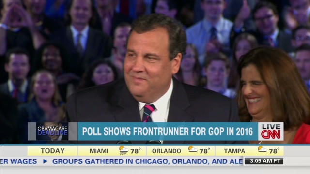 Poll: Christie leads GOP for 2016