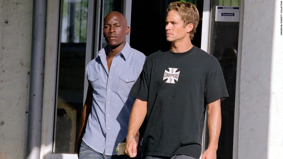 "Tyrese Gibson took over for Diesel opposite Walker in 2003's ""2 Fast 2 Furious."""