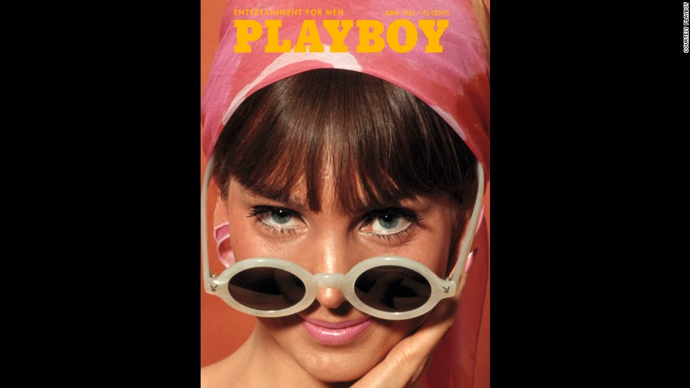Some of Playboy's simplest covers appeared in the 1960s. This cover, in June 1965, features Hedy Scott in a head wrap, staring intently above her sunglasses.