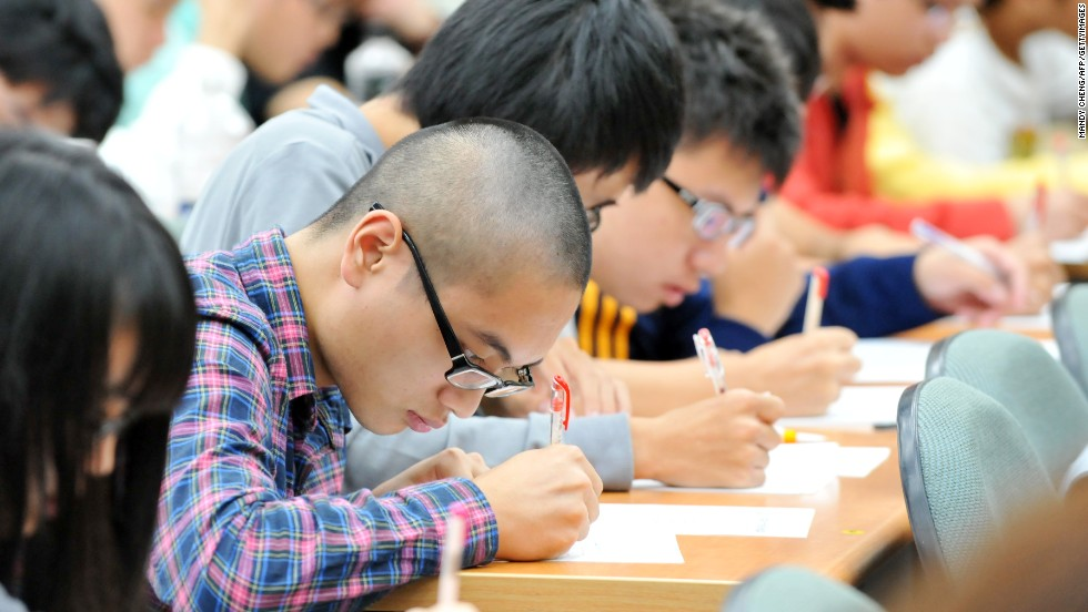 High school students study at a cram school in Taipei, the capital of Taiwan. The island ranked third in math, and equal 7th in reading, and 13th in science.