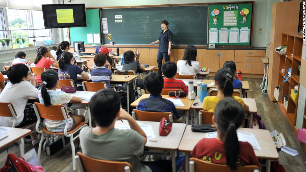 South Korean young people came 5th in math. Like other top performing East Asian economies, a relatively small proportion of students said they arrived late for class or skipped lessons.